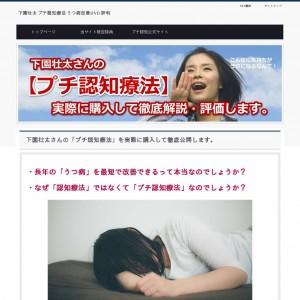 プチ認知療法・下園壮太【購入済】うつ病改善DVDの評判