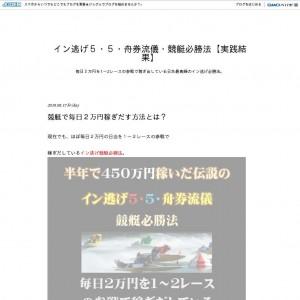 イン逃げ5・5・舟券流儀・競艇必勝法【実践結果】