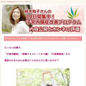 続木和子 子宮内膜症改善プログラム【購入レビュー】方法と口コミ
