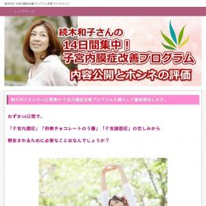 続木和子の子宮内膜症改善プログラム【購入評価】やり方と口コミ