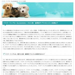 ドクターワンデルの口コミと効果 愛犬の口臭と歯周病対策