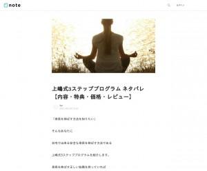 上嶋式3ステッププログラム ネタバレ【内容・特典・価格・レビュー】