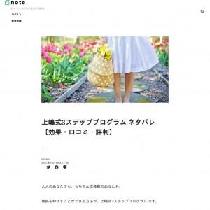 上嶋式3ステッププログラム ネタバレ【効果・口コミ・評判】